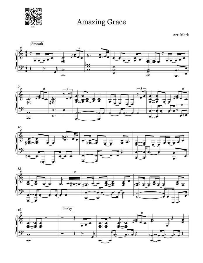 Mark Piano > Amazing Grace 5 kinds of Jazz (Jazz Piano